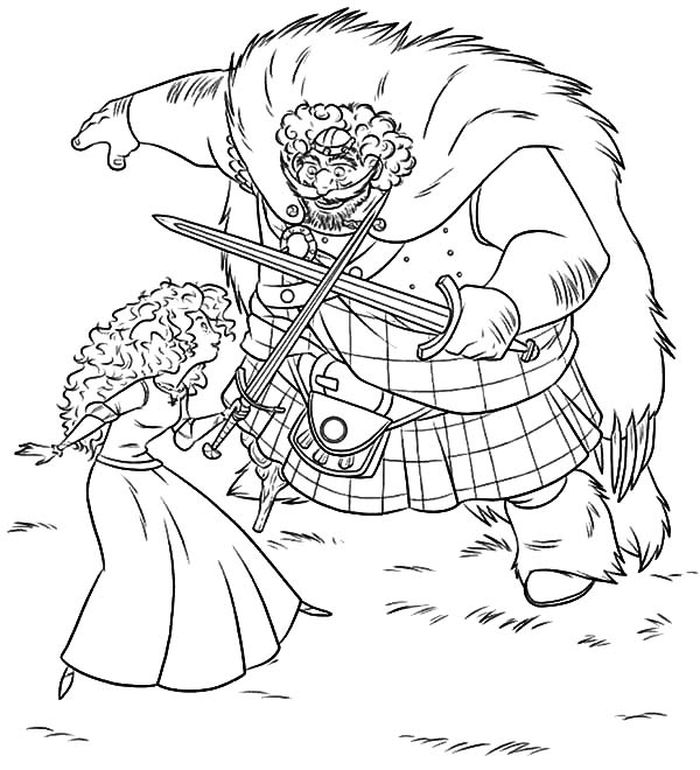 Download Super Coloring Pages Merida