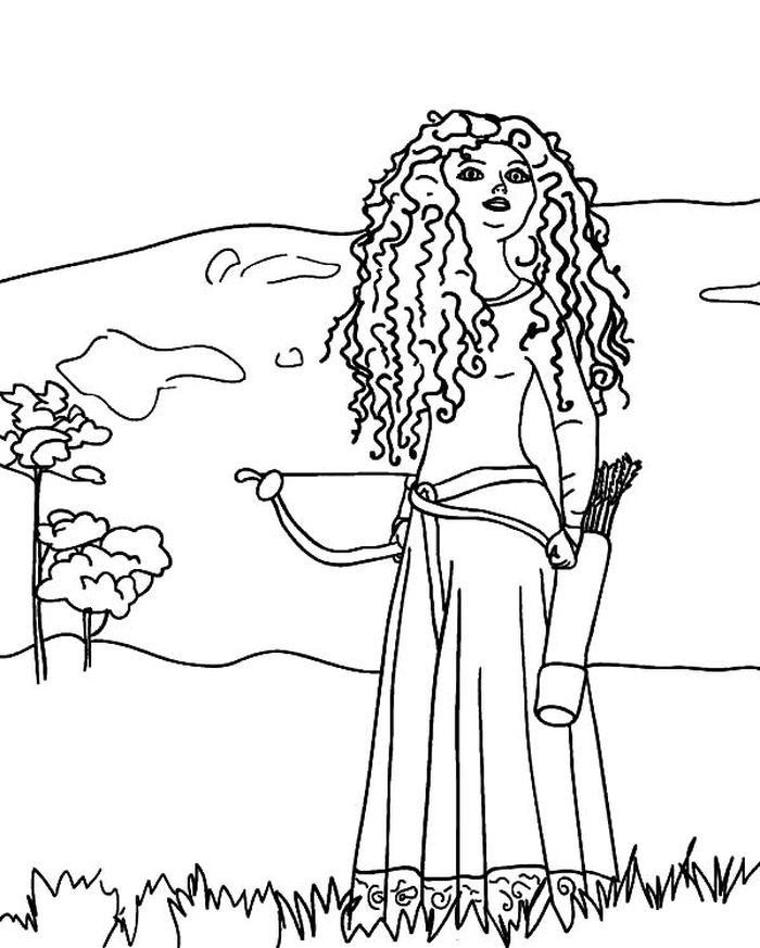Easy Merida Coloring Pages