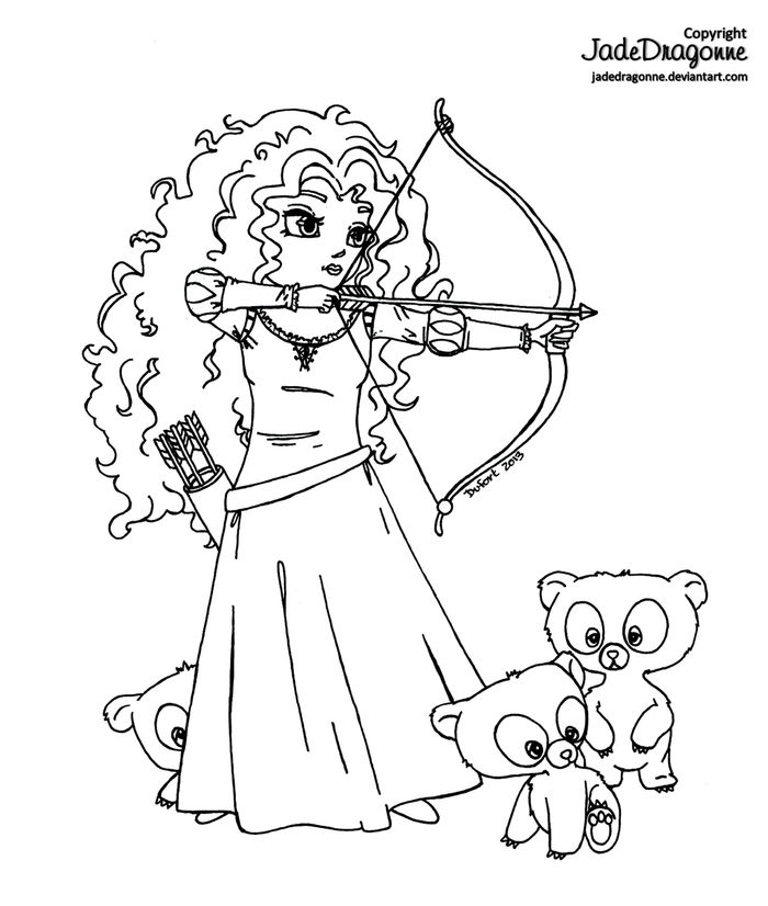 Free Baby Merida Coloring Pages
