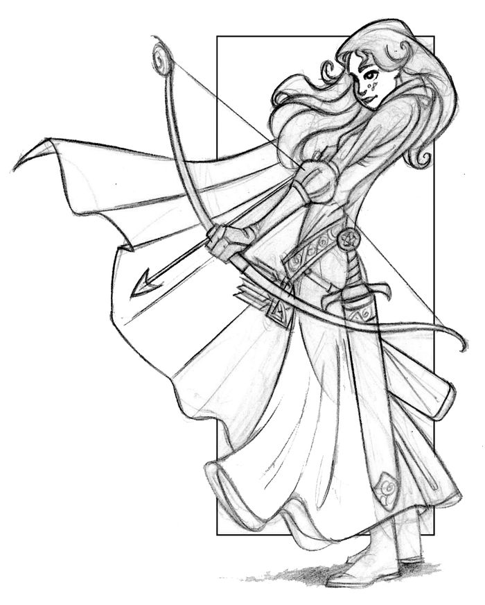 Free Beautiful Human Like Merida Coloring Pages