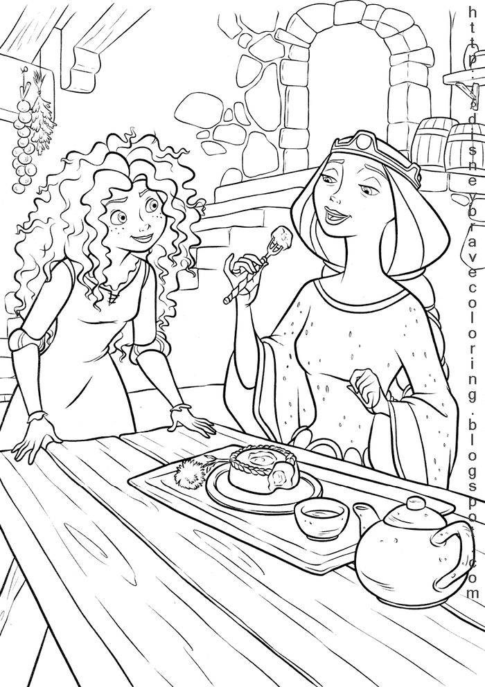 Free Beautiful New Merida Coloring Pages