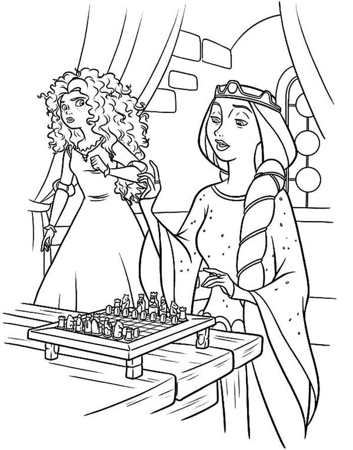Free Brave Merida Coloring Pages