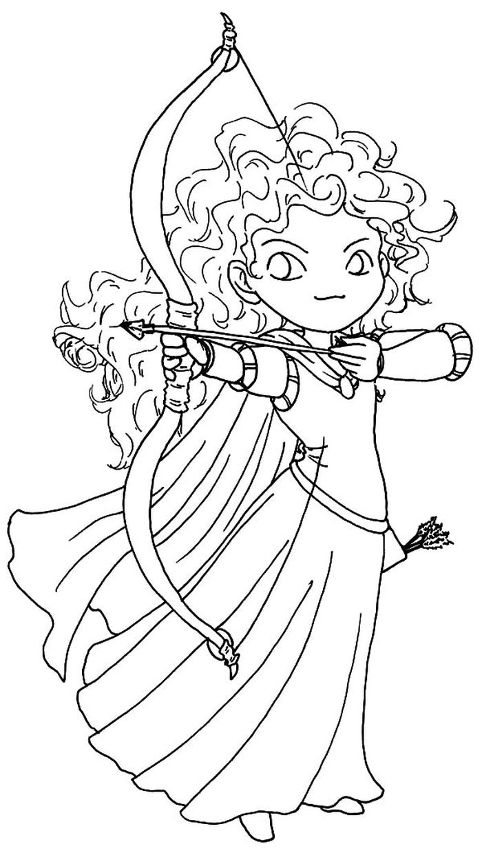 Free Coloring Pages Baby Merida