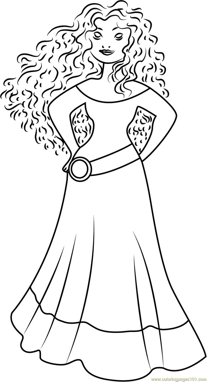 Free Coloring Pages Dancer Merida