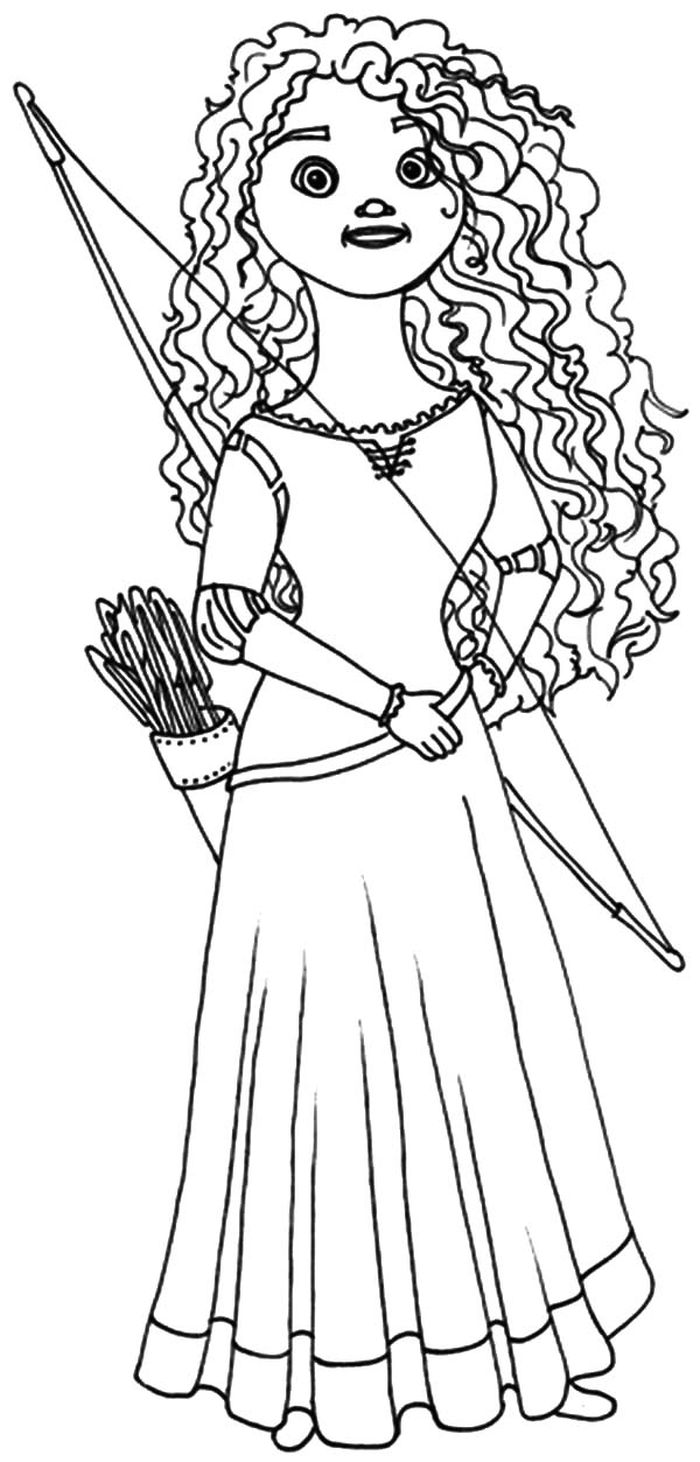 Free Coloring Pages For Merida