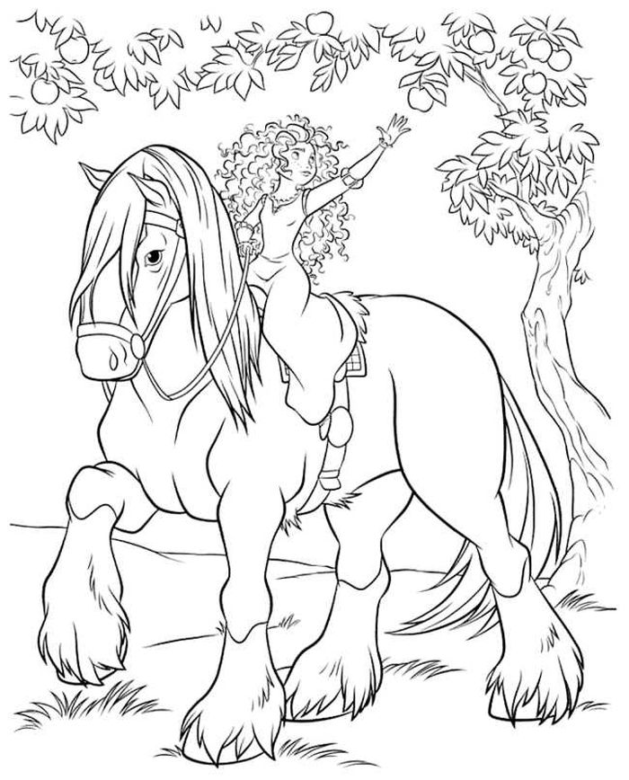 Free Coloring Pages Merida