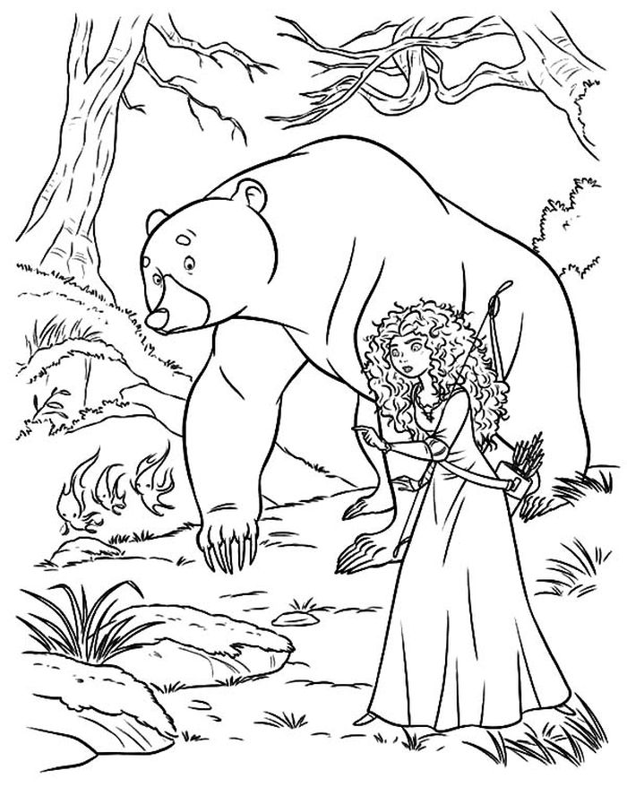 Free Coloring Pages Of Merida From Brave