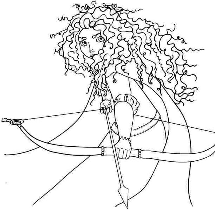 Free Coloring Pages Of Merida