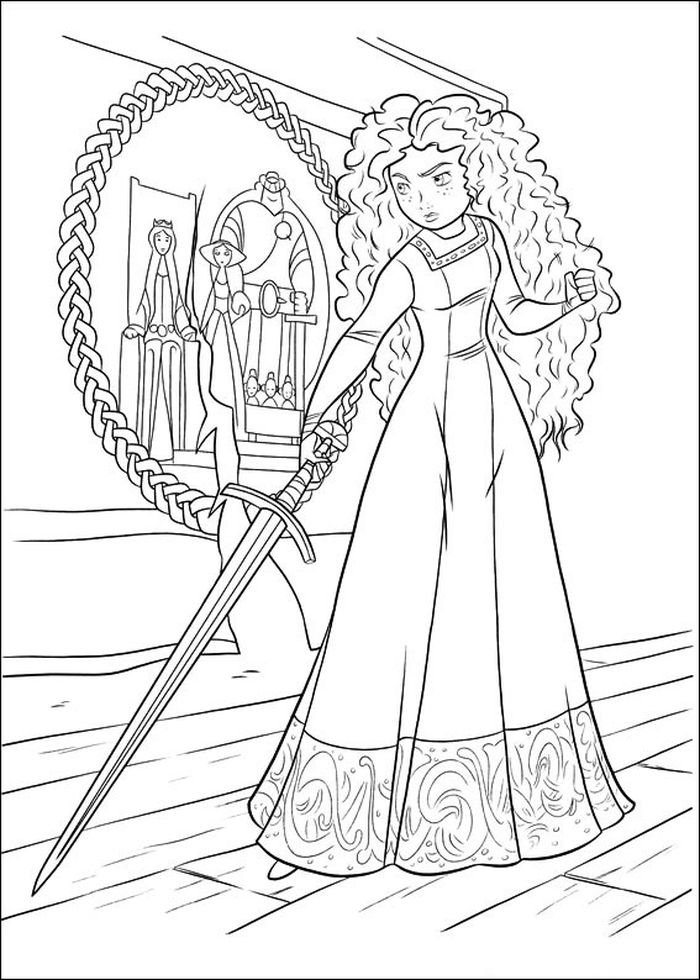 Free Disney Merida Coloring Pages