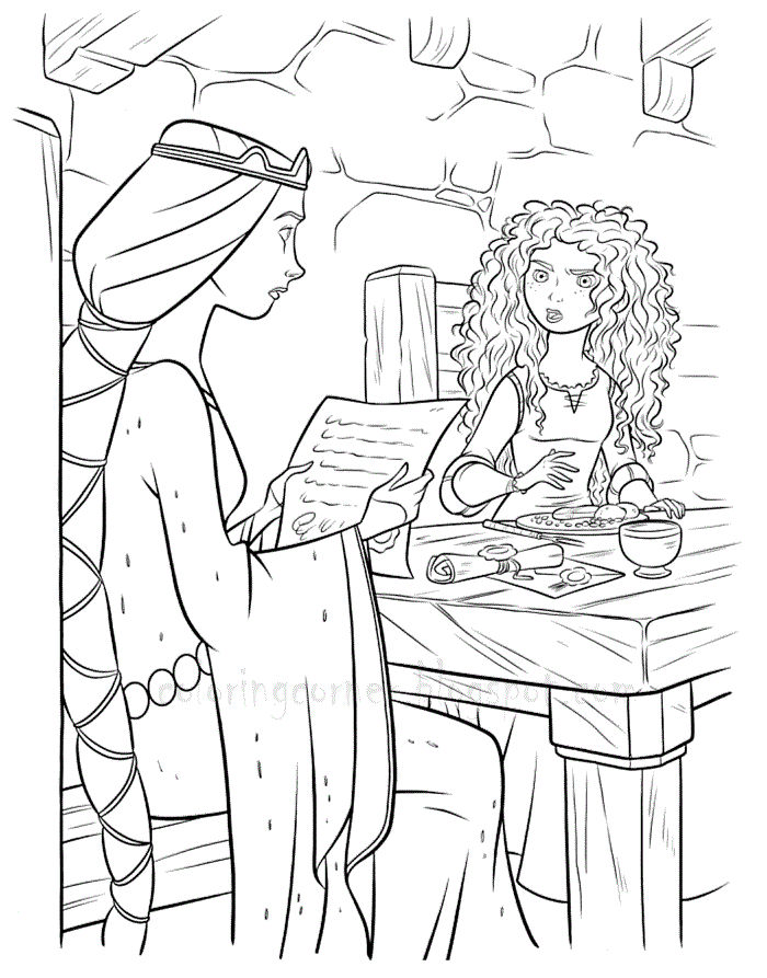 Free Disney Merida Cooking Coloring Pages