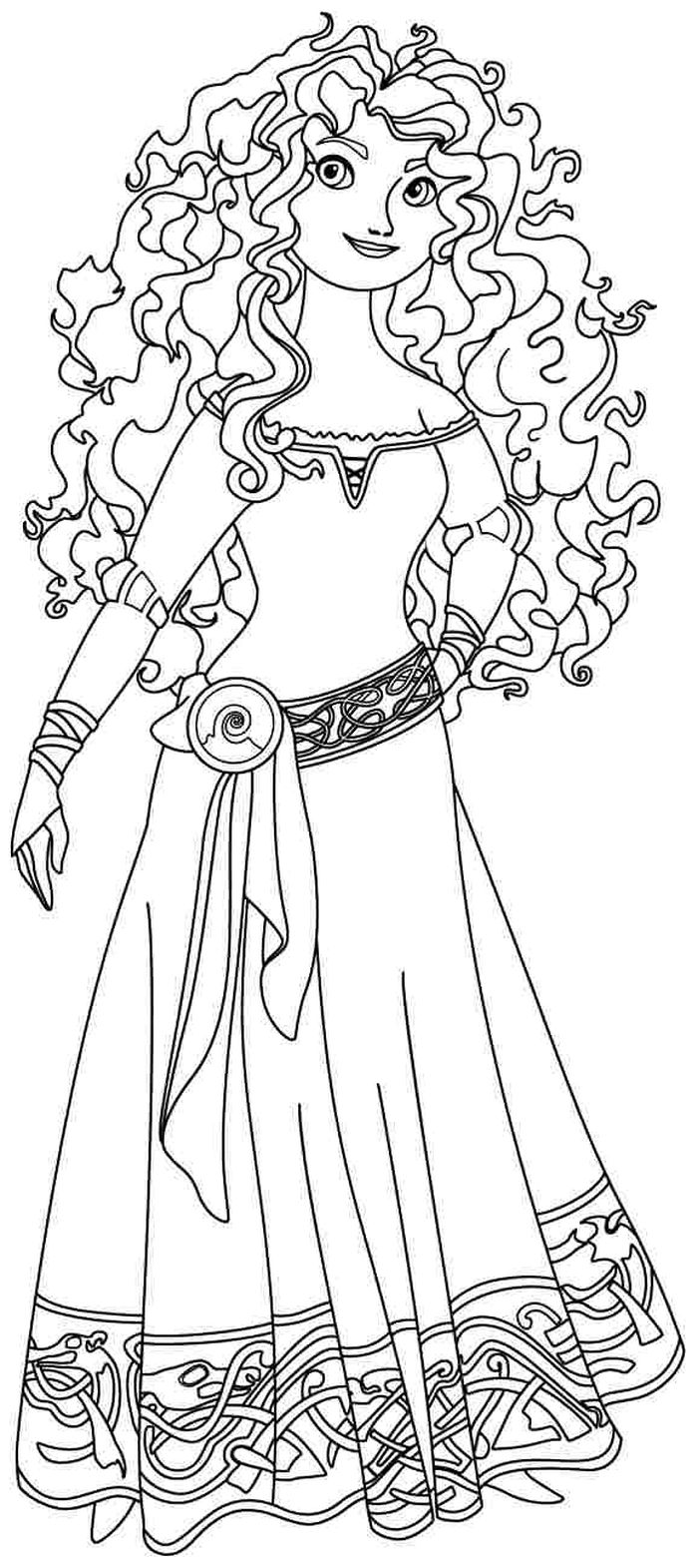 Free Kids Coloring Pages Merida