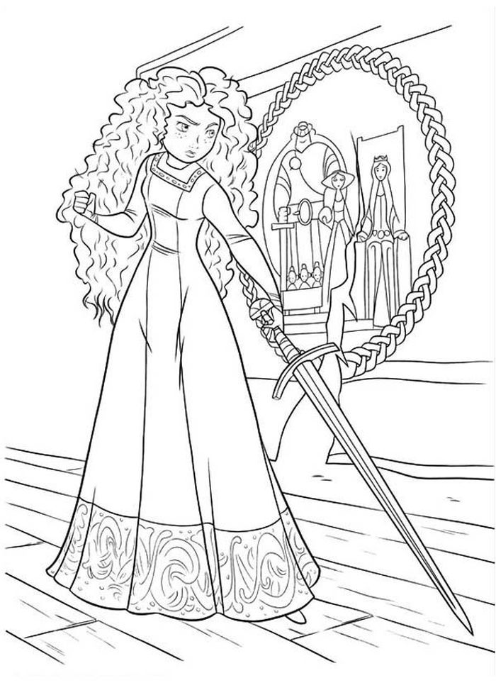Free Merida Brave Coloring Pages