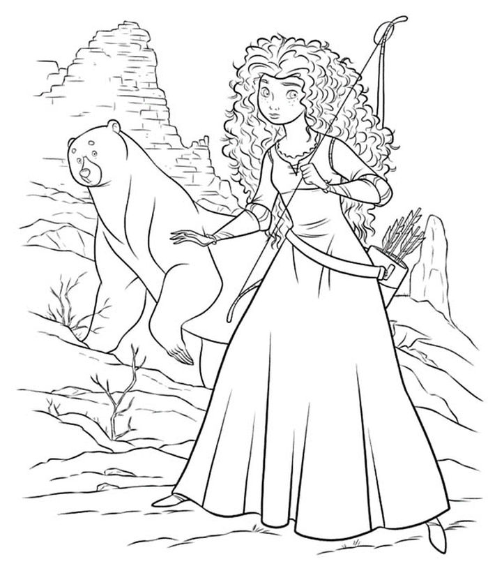 Free Merida Coloring Pages Close Up