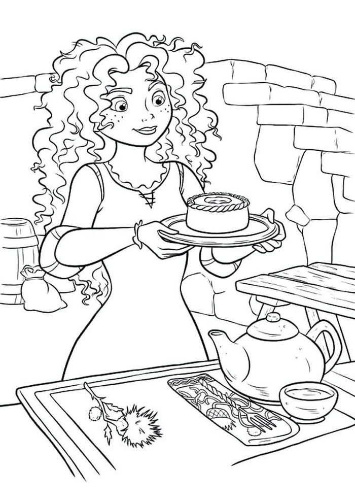 Free Merida Coloring Pages Girl
