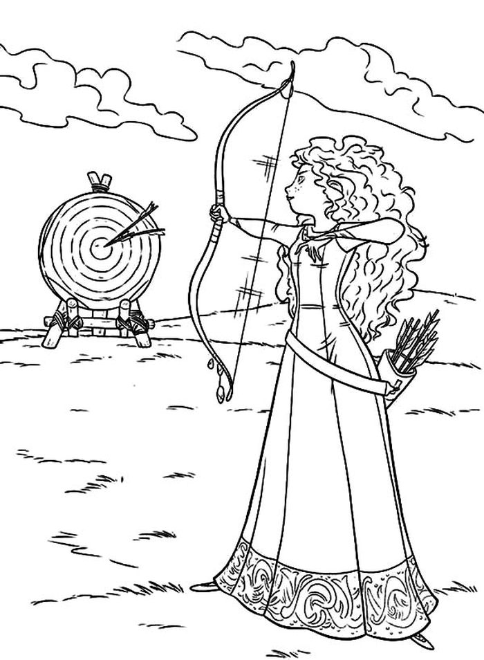 Free Printable Coloring Pages Merida From Brave