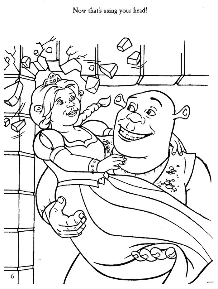 Printable Christmas Shrek Coloring Pages