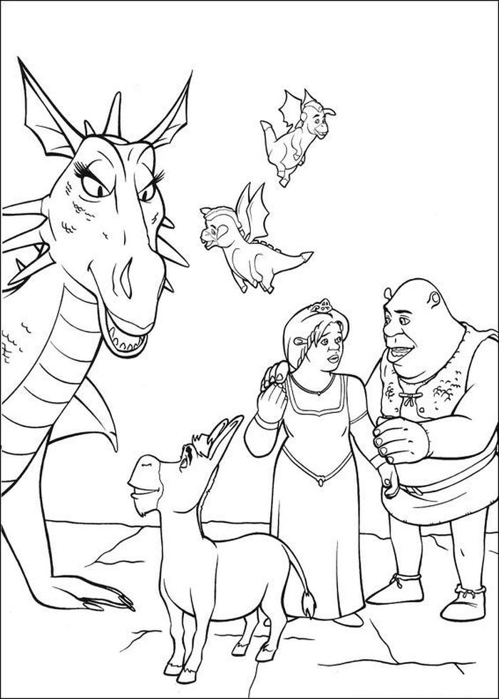 Printable Coloring Pages From Shrek