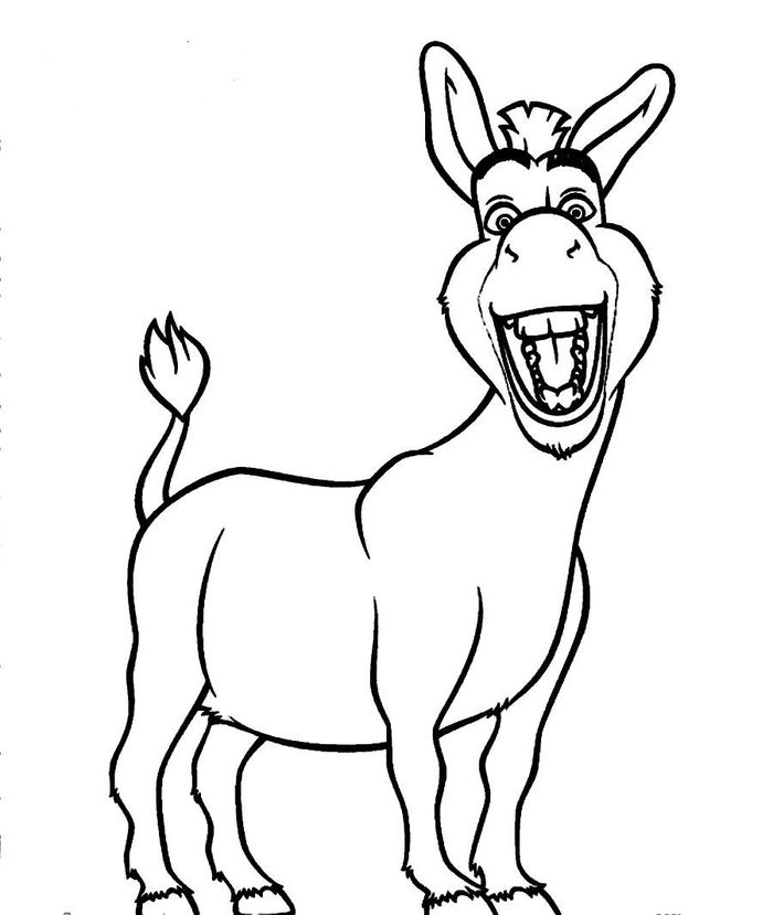 Printable Coloring Pages Of Donkey From Shrek