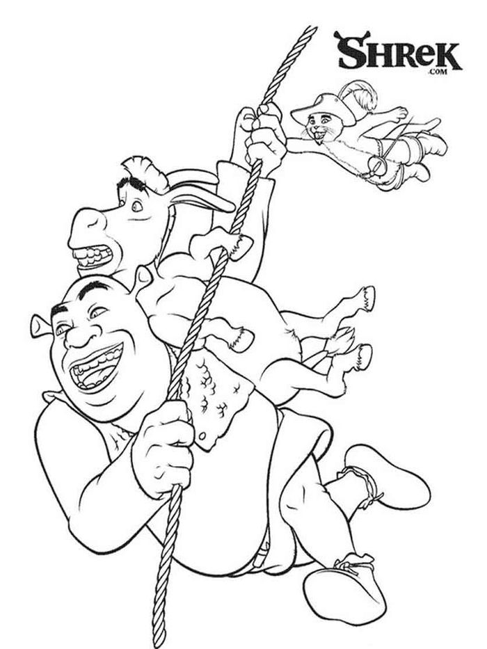 Printable Coloring Pages Of Dragon From Shrek Free