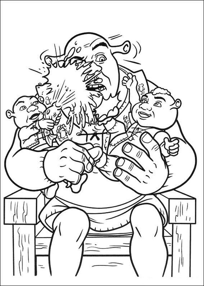 Printable Coloring Pages Shrek Free