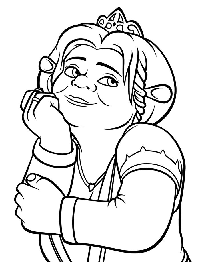 Printable Fiona From Shrek Coloring Pages