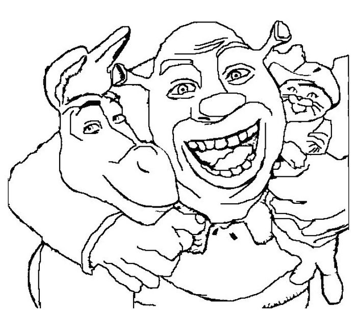 Printable Shrek Coloring Book Pages