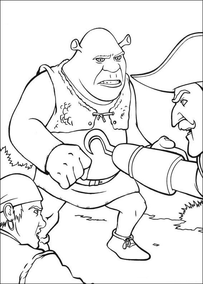 Printable Shrek Coloring Pages Pdf