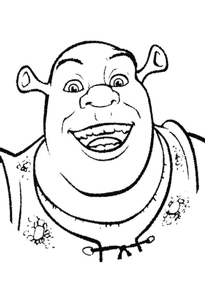 Printable Shrek Face Coloring Pages