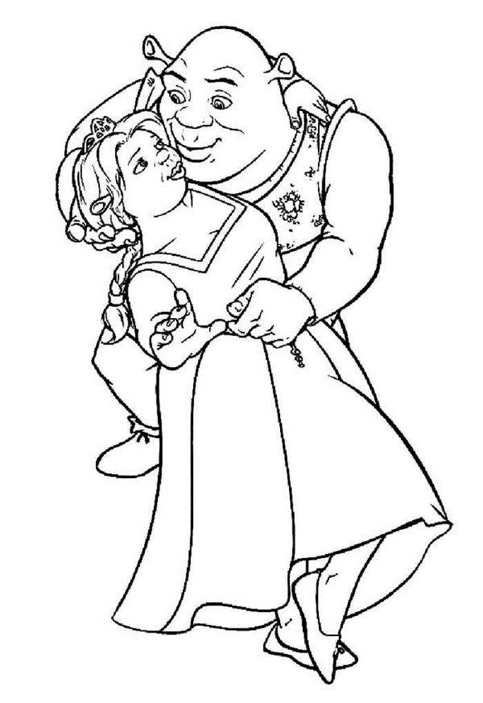 Printable Shrek Fiona Coloring Pages