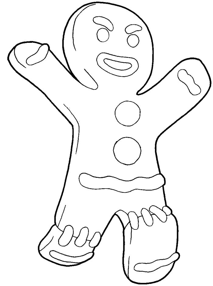 Printable Shrek Gingerbread Man Coloring Pages