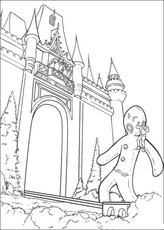 Printable Shrek Gingy Coloring Pages