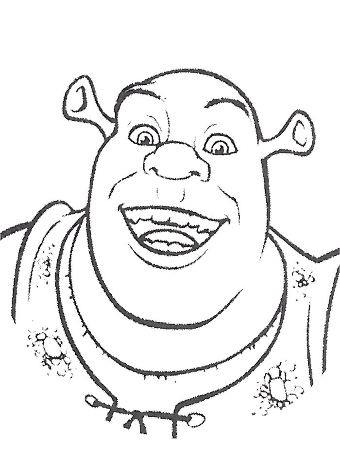 Printable Shrek Head Coloring Pages