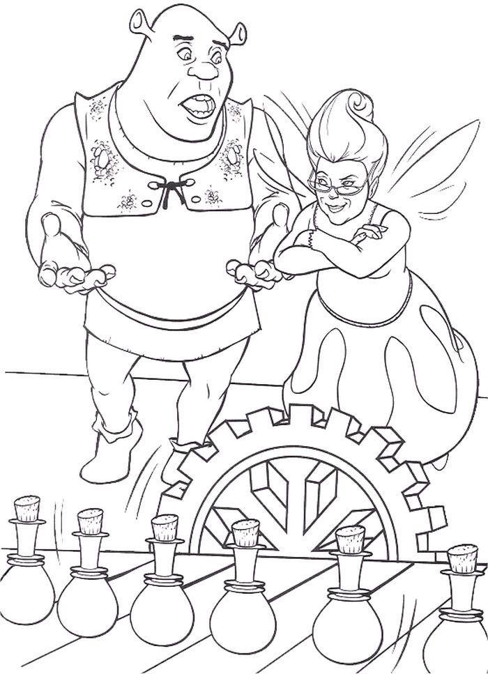 Shrek Coloring Pages Print