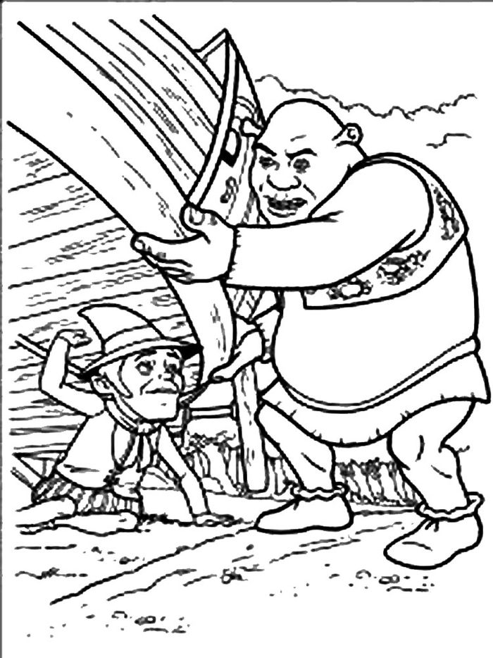 Shrek Coloring Pages With Dad