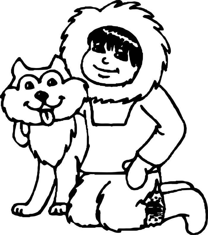 Free Husky Dog Birthday Coloring Pages