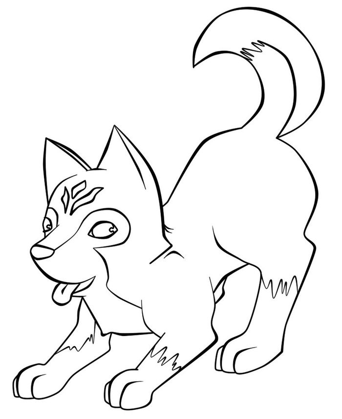 Printable Baby Husky Coloring Pages