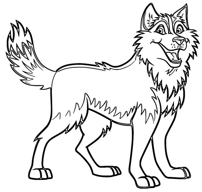 Printable Coloring Pages Of Husky Dogs