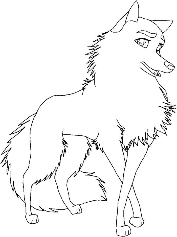 Printable Cute Animal Coloring Pages Husky Dog