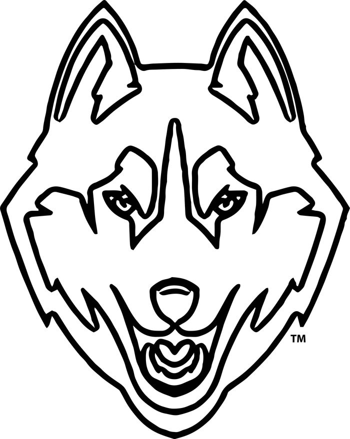 Printable Face Husky Coloring Pages