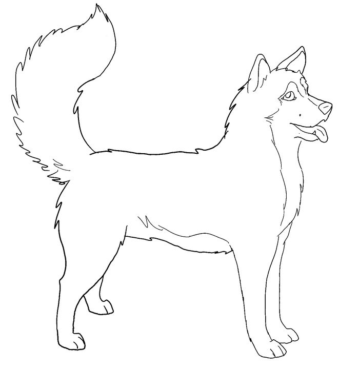 Printable Hard Wolves And Husky Coloring Pages Free