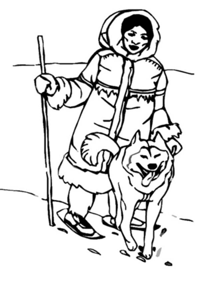 Printable Husky And German Shepherd Coloring Pages