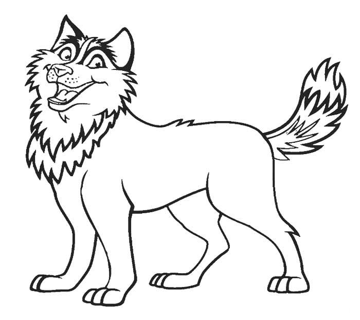 Printable Husky Dogs Coloring Pages