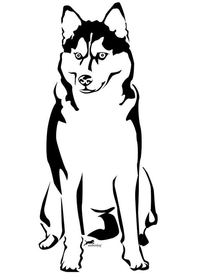 Printable Siberian Husky Coloring Pages