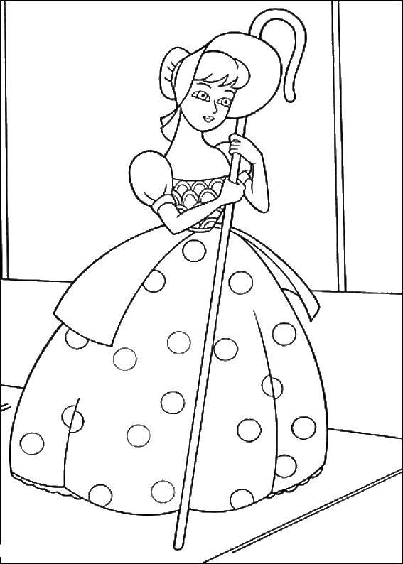 Free Coloring Pages Little Bo Peep