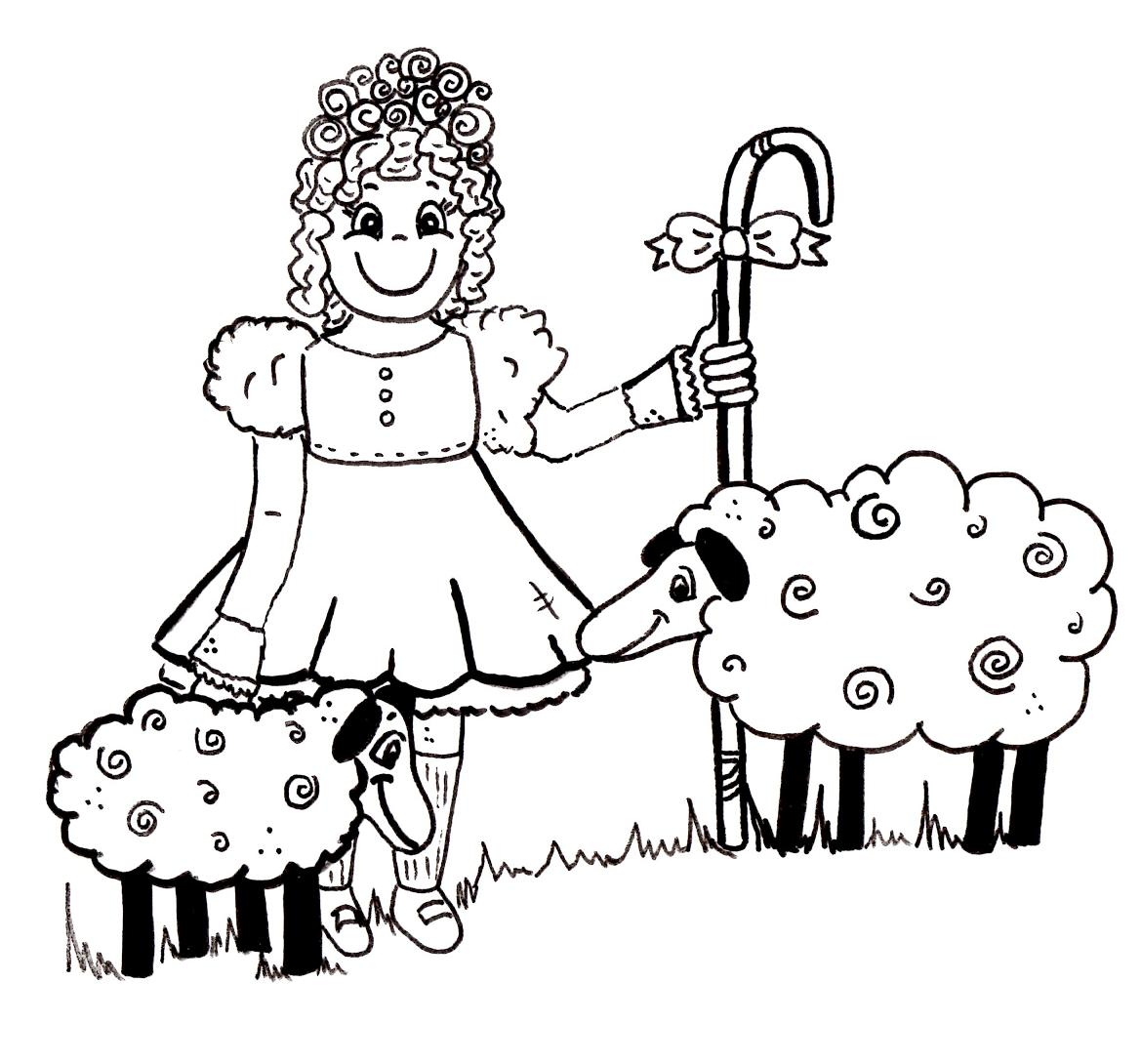Little Bo Peep Cartoon coloring Pages