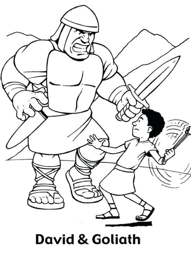 david and goliath coloring pages image