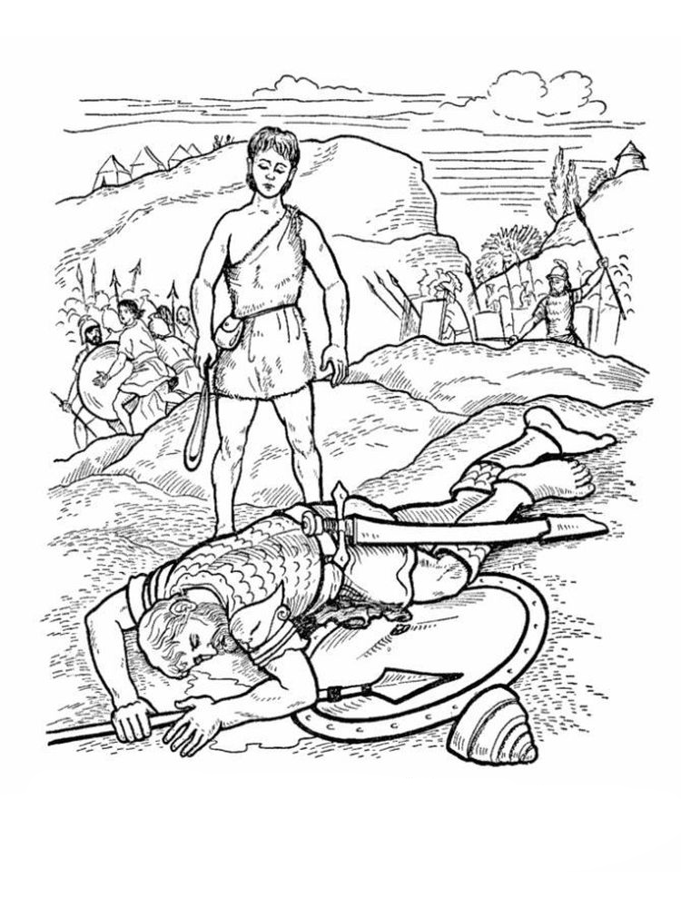 david and goliath coloring pages pdf