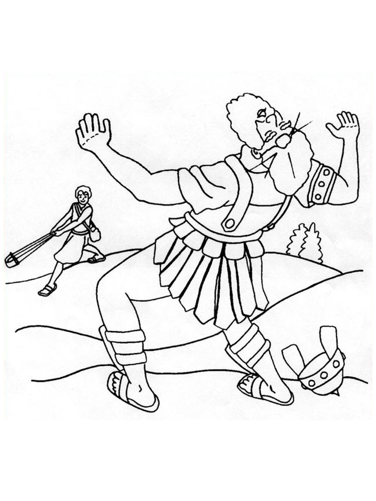 david and goliath coloring pages pict